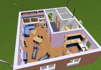 Hausplaner 3D Erdgeschoss