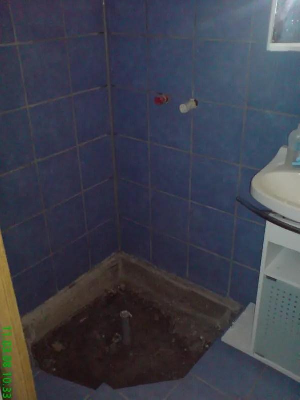 vorbereitet für die Dusche