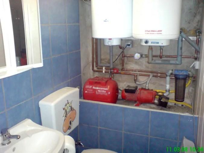 Speicher und Hauswasserwerk