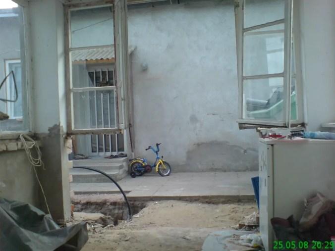 vom Fenster zur Tür