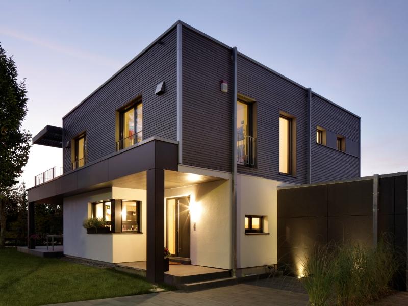 Modernes Fertighaus von Baufritz  Haus Nilles