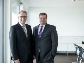 Bernhard Scholties und Thomas Sapper (v.l.n.r.) setzen als Vorstand der DFH die Prioritäten Richtung Nachhaltigkeit. (Foto: DFH AG)