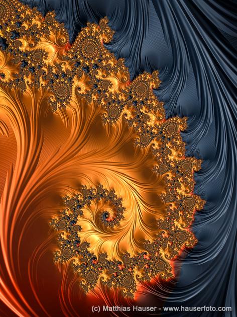 Matthias Hauser Fotografie  Fractal Spirals with warm