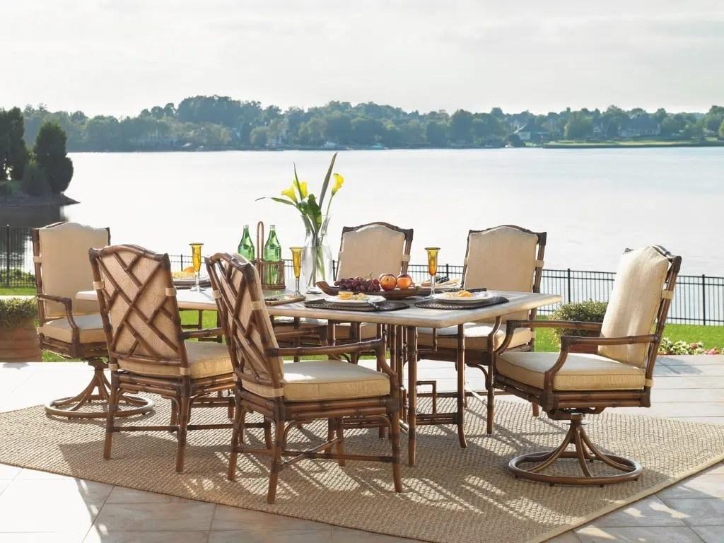 veranda chair design massage zero gravity island estate dining hauser 39s patio