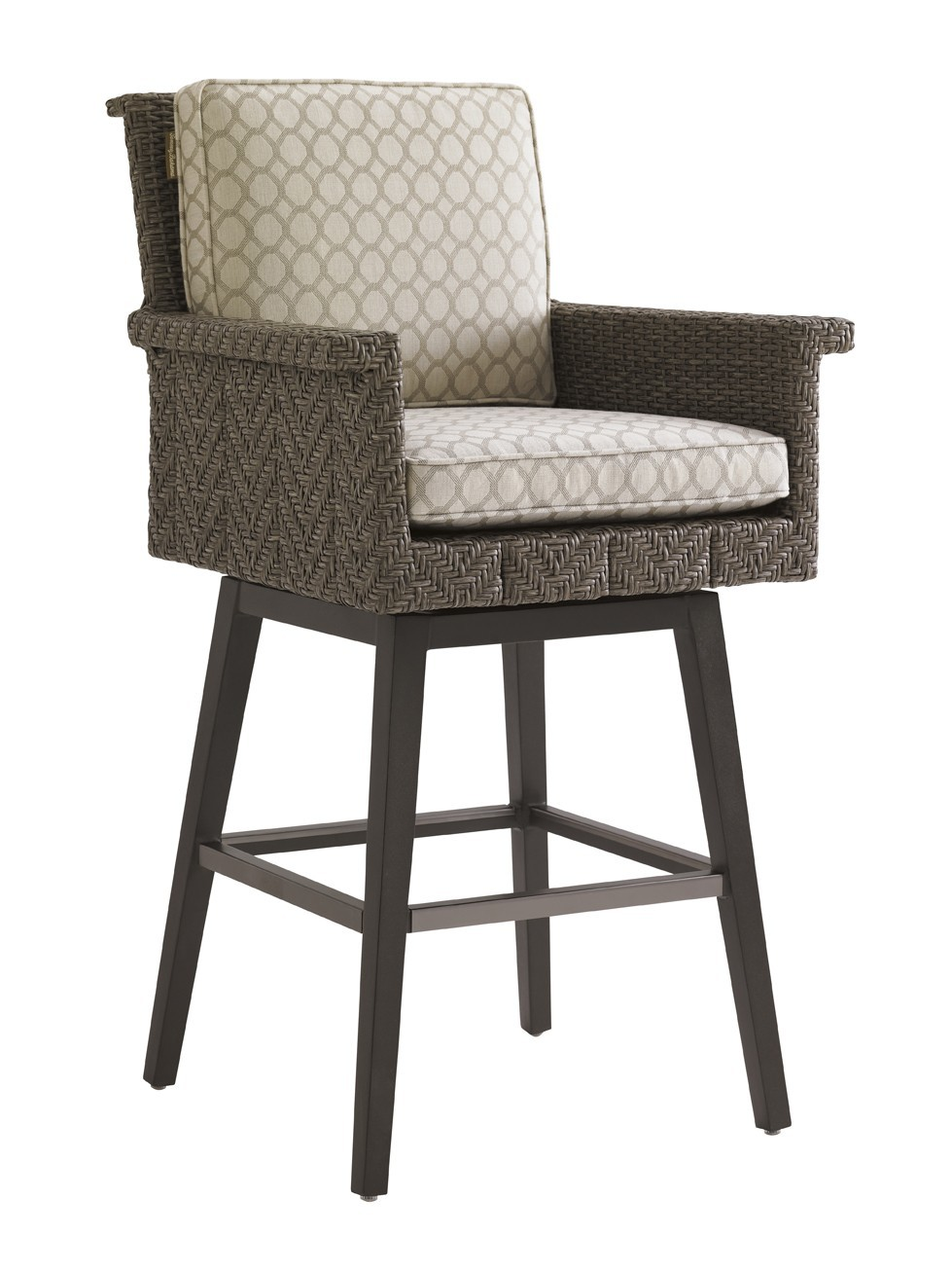 Blue Olive Swivel Bar Stool Frame  Hausers Patio