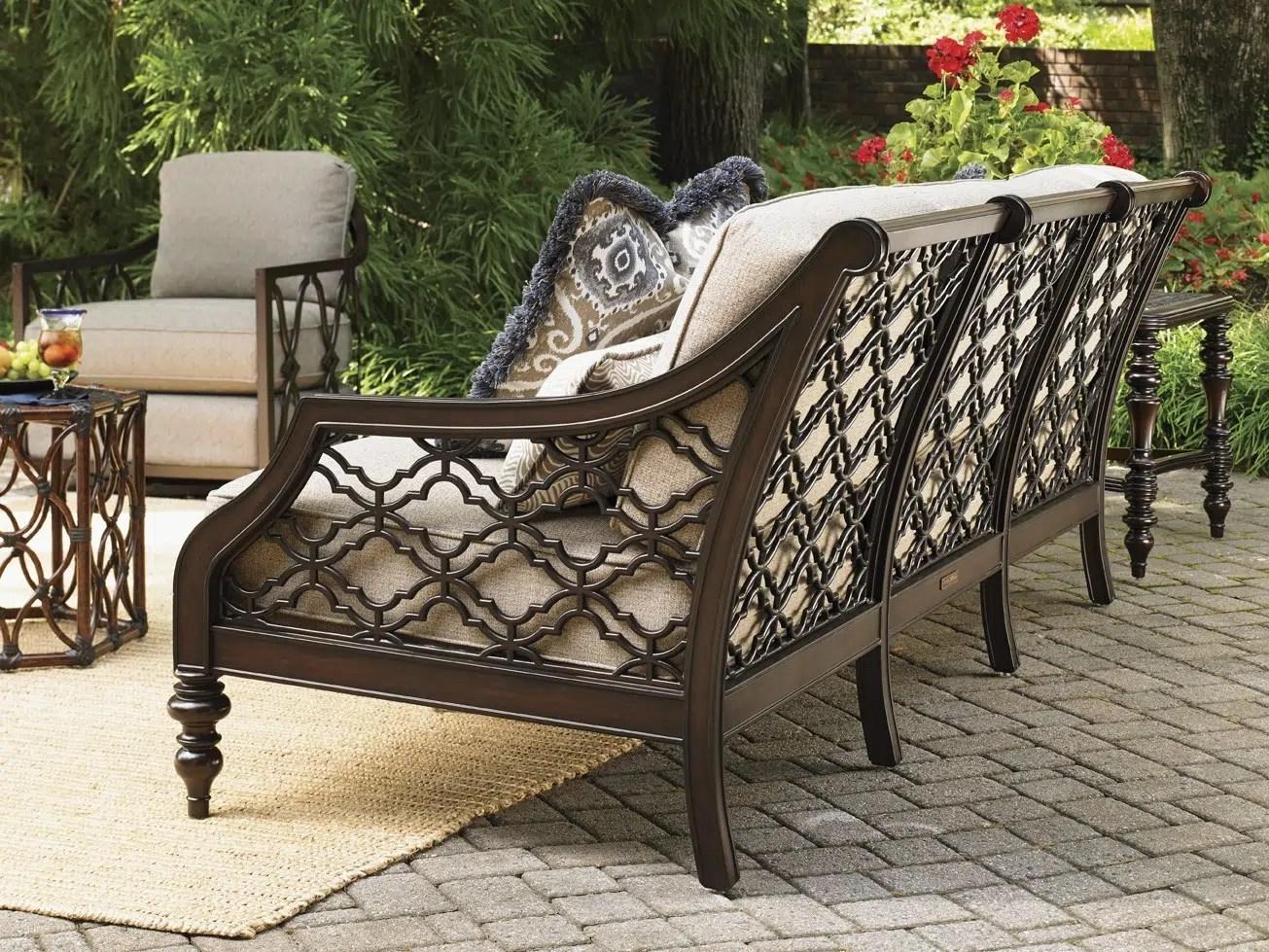 black aluminum outdoor sofa brown cover royal kahala sands hauser 39s patio