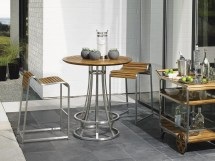 Tres Chic High Bistro Bar Table Base - Hauser' Patio