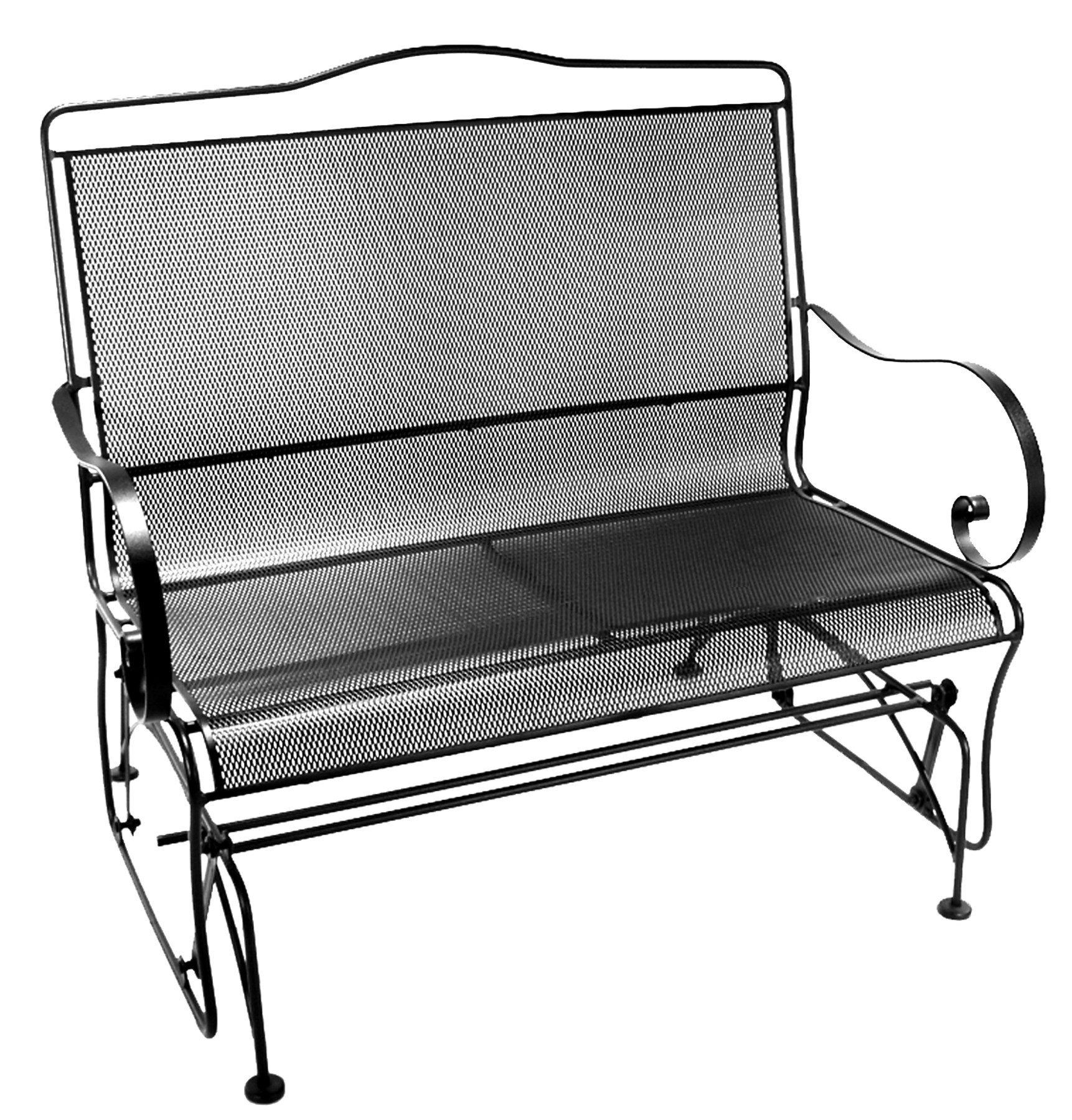 jordan manufacturing outdoor patio wrought iron chair cushion menards lawn chairs for a penny avalon settee glider hauser 39s