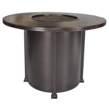 """Hammered Copper 54"""" Counter Height Fire Pit - Hauser"""