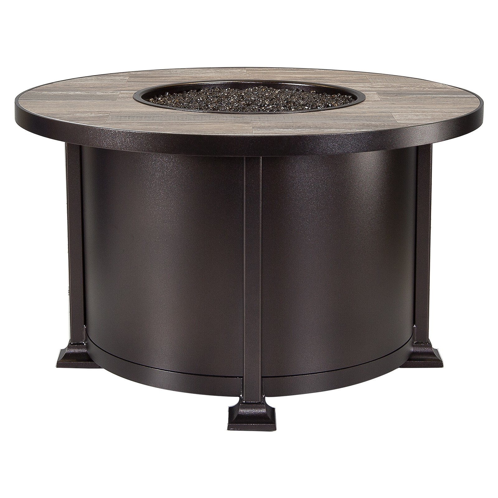 Vulsini Aluminum 42 Round Chat Height Fire Pit  Hausers Patio