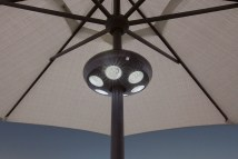 Large Vega Umbrella Light With 36 Led Lights - Hauser' Patio