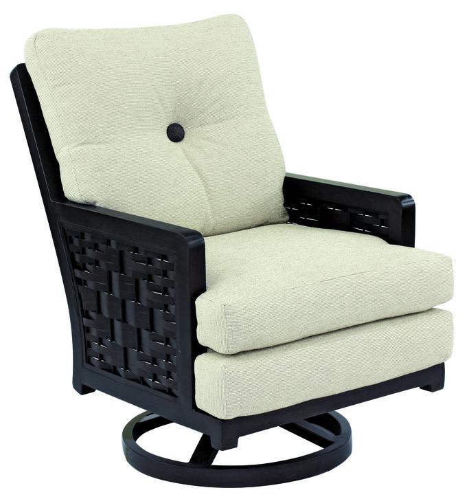 swivel chair in spanish kidkraft high bay cushion rocker hauser s patio