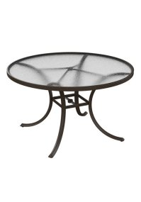 """Dining Table 48"""" Round With Acrylic Top - Hauser's Patio"""