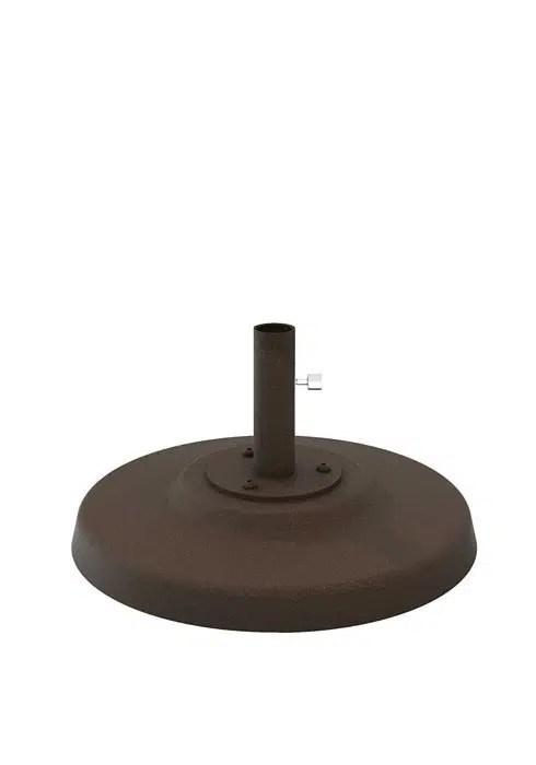 Concrete Filled Aluminum Umbrella Base 24 Round 15 Pole