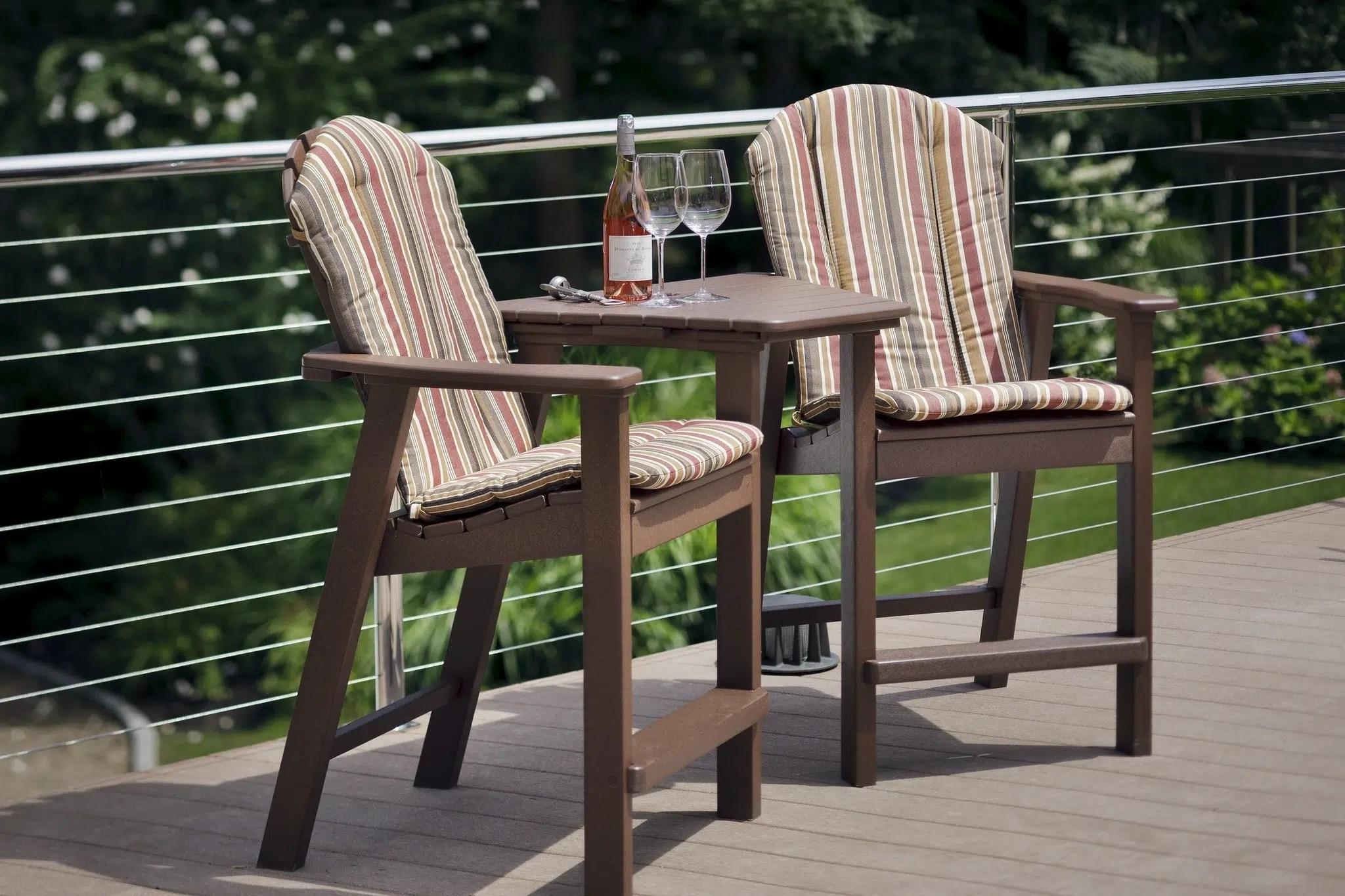Adirondack Shellback Balcony Chair  Hausers Patio