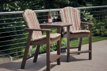 Adirondack Shellback Balcony Chair - Hauser' Patio