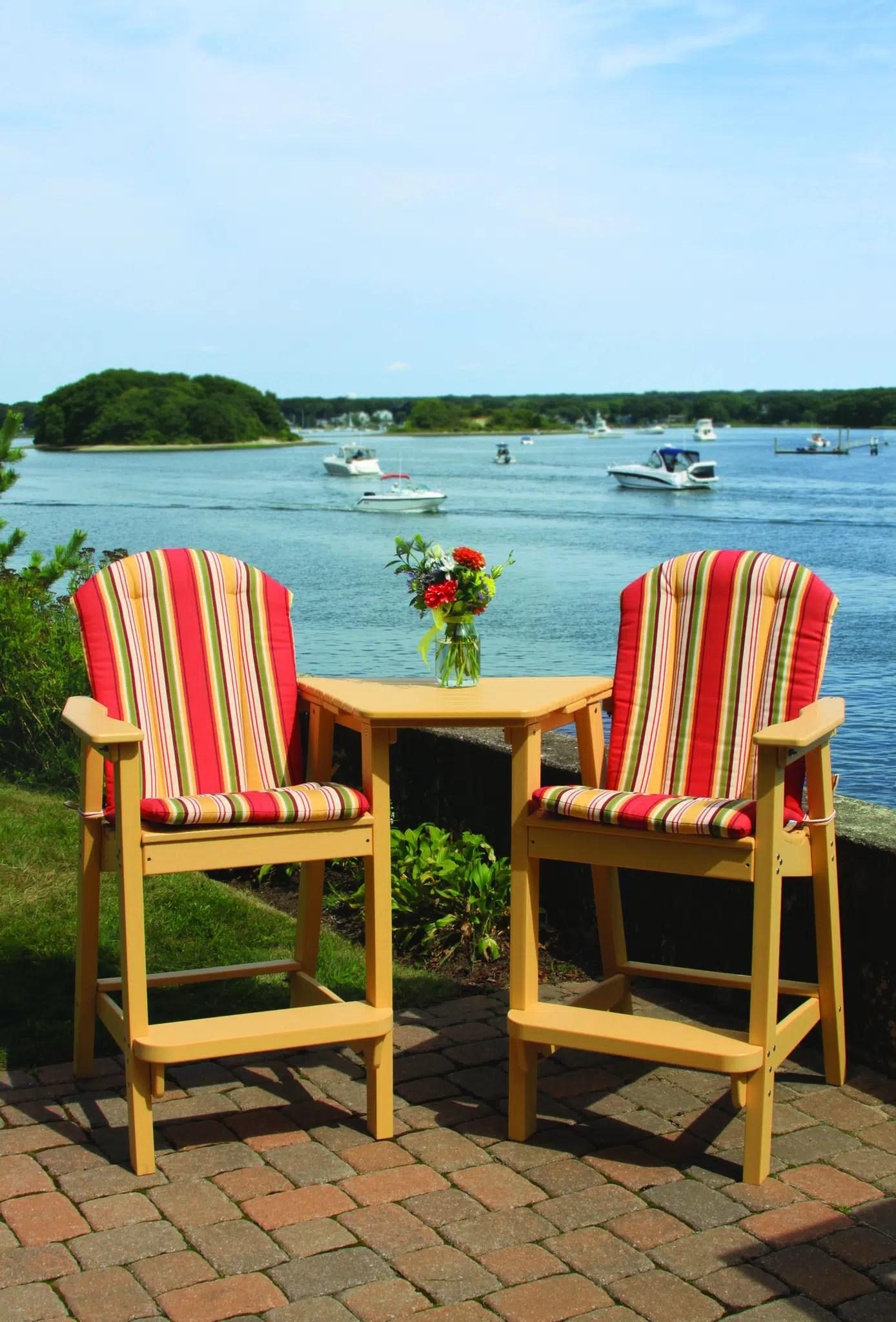 Adirondack Shellback Bar Chair - Hauser' Patio