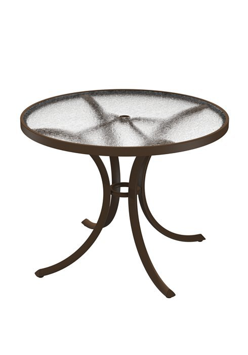 Dining Table 36 Round Acrylic Top With Umbrella Hole  Hausers Patio