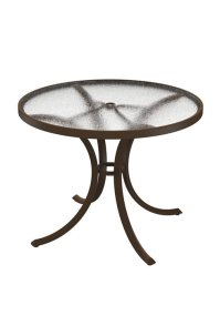 "Dining Table 36"" Round Acrylic Top With Umbrella Hole ..."