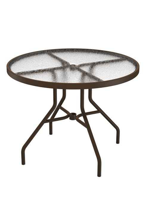 Dining Table 36 Round Acrylic With Umbrella Hole  Hauser