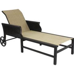 Outdoor Chaise Lounge Chairs With Wheels Rei Low Camp Chair English Garden Sling Adjustable W