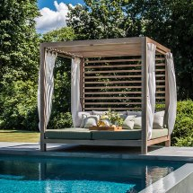 Tuuci Dual Cantilever Umbrellas Loungers Cabanas And