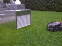 Rasenmhroboter Garage mit Rolltor jetzt gnstig online