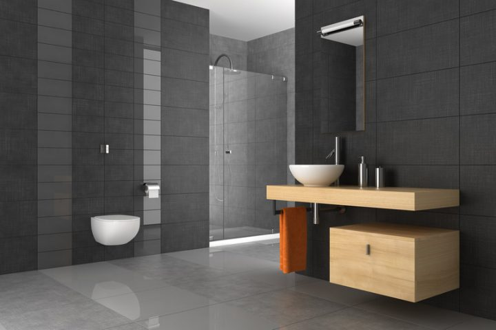 Badezimmer Fliesen in grau  Mglichkeiten und Preisspannen