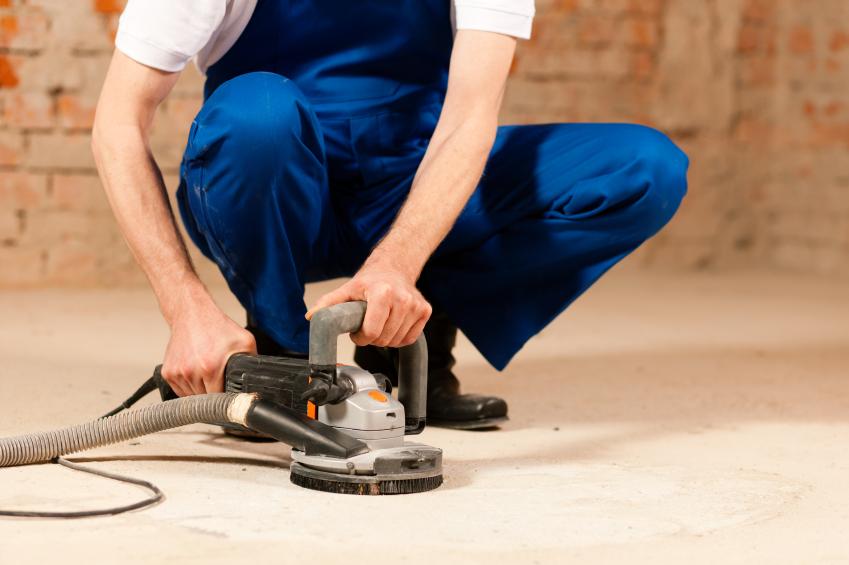 Betonboden schleifen  Mit dieser Anleitung kein Problem