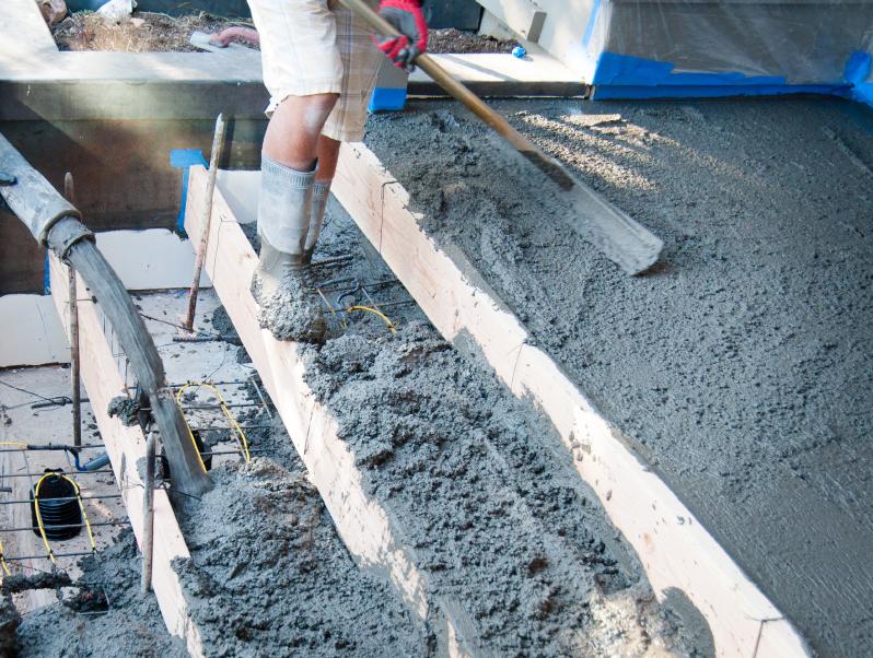 Betontreppe bauen  Unterkonstruktion Verschalung  Gieen
