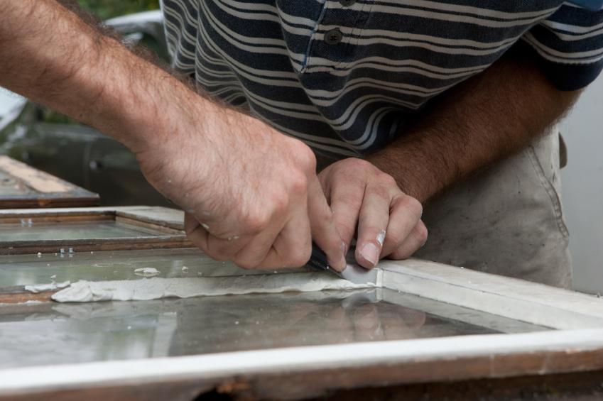 Fenster kitten  Anleitung in 6 Schritten