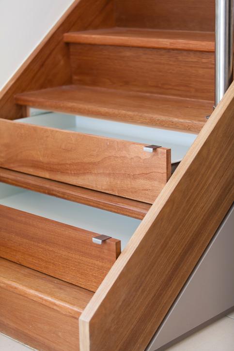 Schubladen unter Treppe  Schne Ideen fr mehr Stauraum
