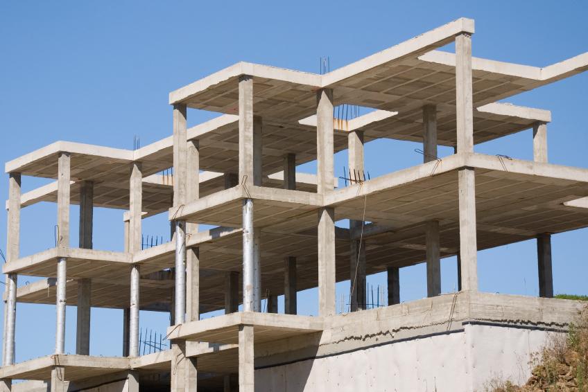 Stahlbetonskelettbau  Prinzip Aufbau  mehr