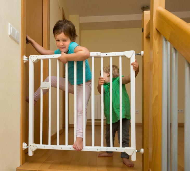 Treppe sichern  Wie  wann macht man das
