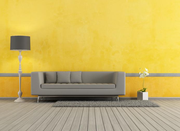 Wandfarbe zu grauen Mbeln  Diese Farbtne passen