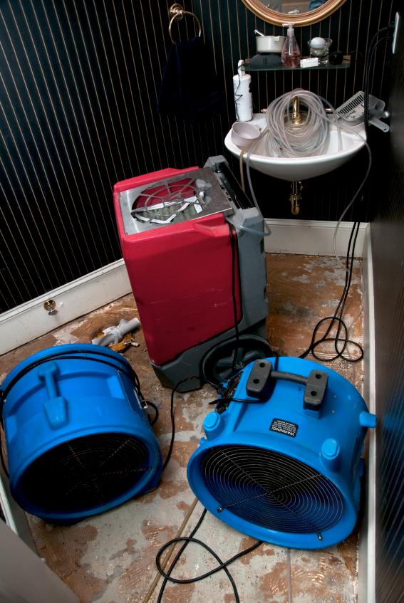 Wasserschaden im Badezimmer  Vorgehensweise