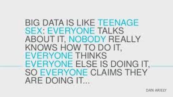 big data is like teenage sex
