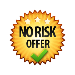 No Risk Offer - Burst Badge Orange