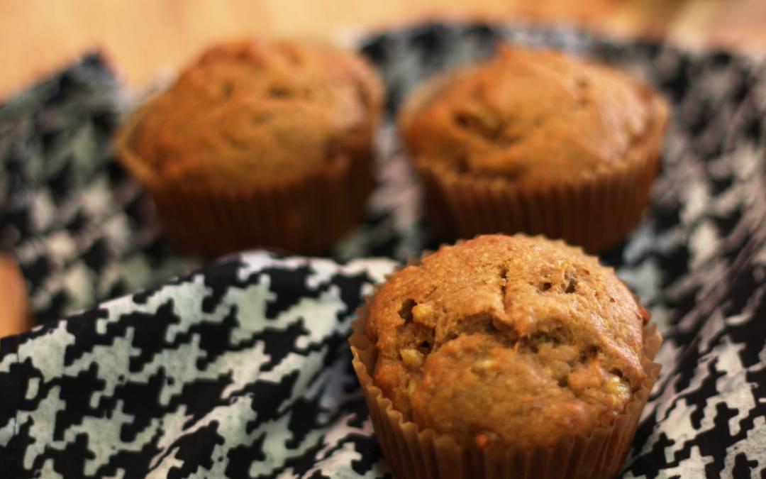 Healthy Apple + Banana Muffin Recipe