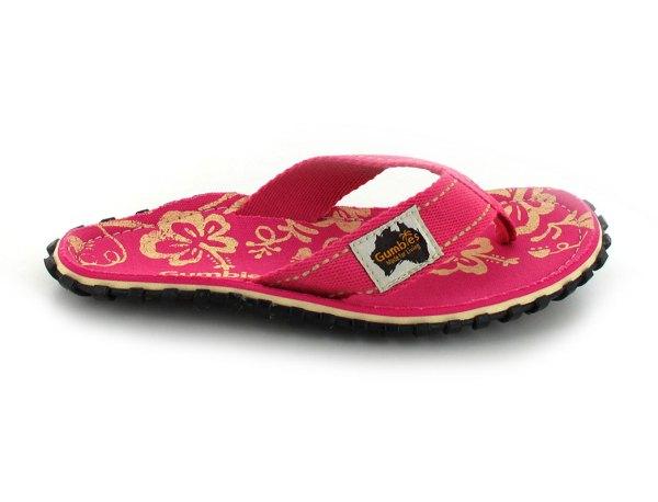 4a3939f0f903a7 Gumbies Flip Flops Damen Pink Hibiscus
