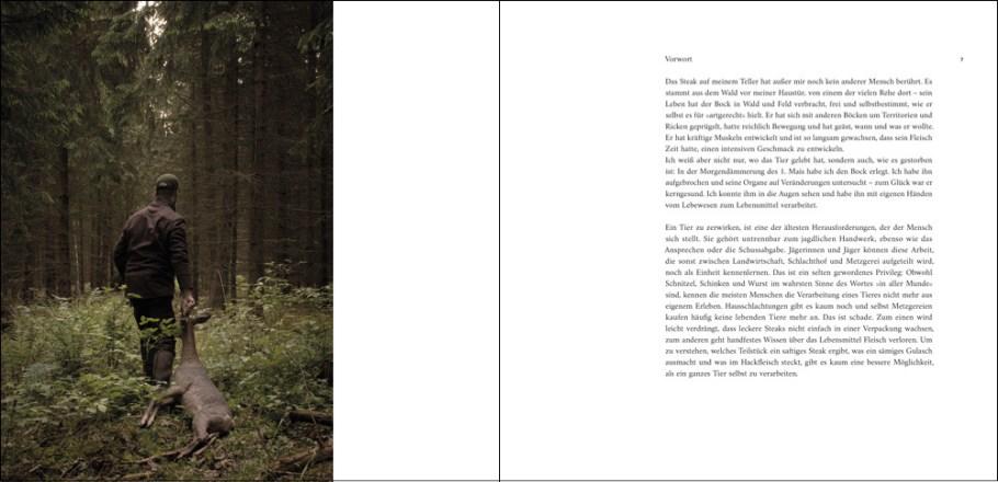 """Ausschnitt aus dem Buch """"Rehwild, vom Lebewesen zum Lebensmittel"""" von Fabian Grimm, Vorwort"""