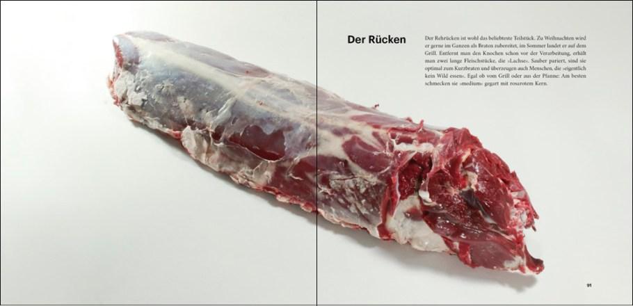 """Ausschnitt aus dem Buch """"Rehwild, vom Lebewesen zum Lebensmittel"""" von Fabian Grimm, Rücken"""