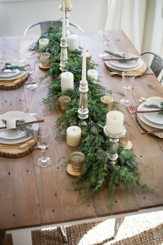 best decoration en bois pour table de noel with dcoration table de nol