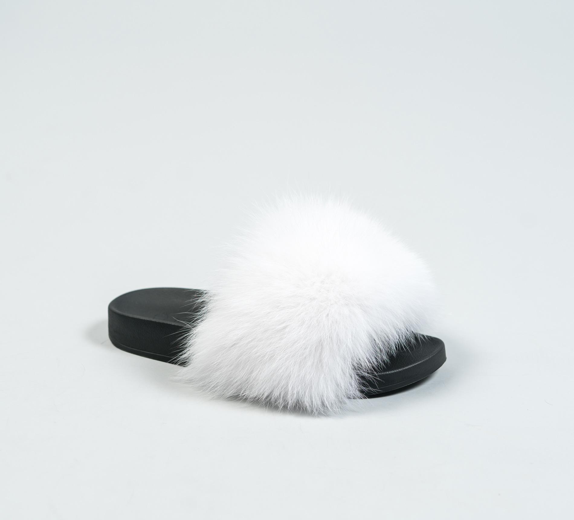 White Fur Slides