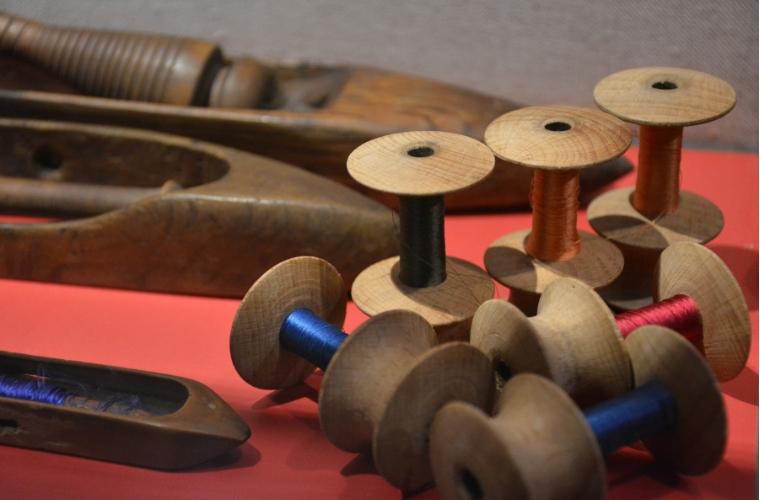 Naaigerei Museo de la seda Valencia zijdemuseum