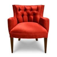 Tiffany Damask Chair - Red Velvet - Haute House Home