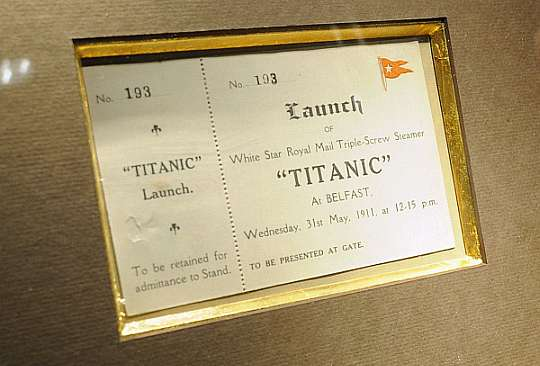 Original Titanic Launch Ticket Could Sell for up to 70000 at Auction  Haute Living