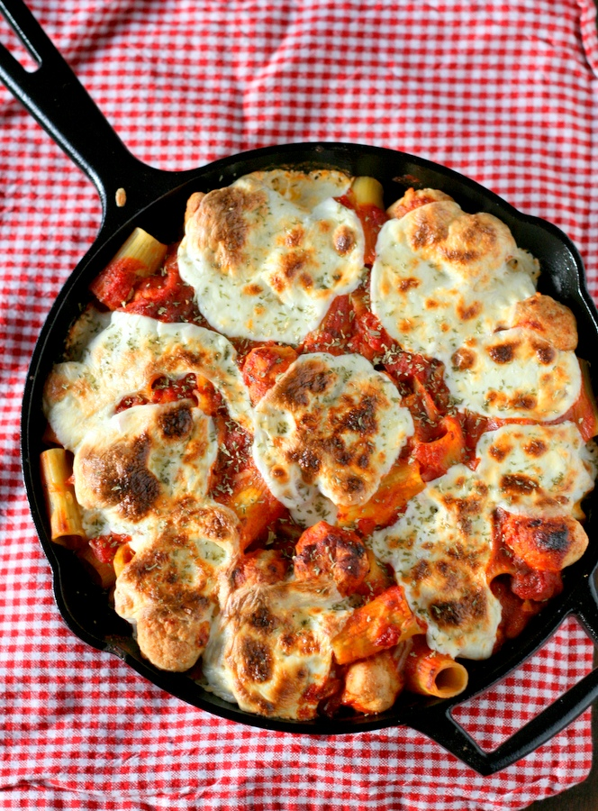 Baked Rigatoni with Chicken Meatballs