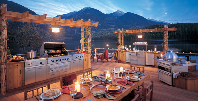 outdoors kitchen pub table outdoor luxury kitchens that brag cool hip and sexy summer swag