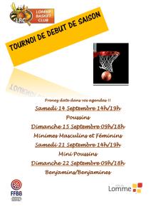 Tournoi Mini-Poussin(e)s/Benjamin(e)s - Lomme Basket Club @ Lomme